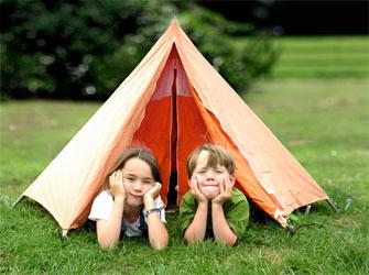 enfant au camps